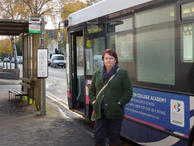 CLLR Justine Baker says an increase in bus fares would isolate the people of West Somerset further. PHOTO: Submitted.