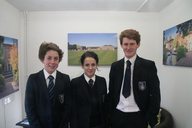 Champion speakers William Langdon, Phoebe Crossing and Henry Vyse.