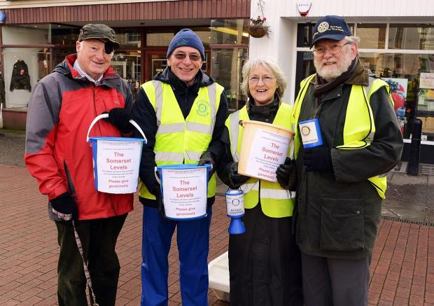 Collecting for the Somerset Levels flood victims in Wiveliscombe