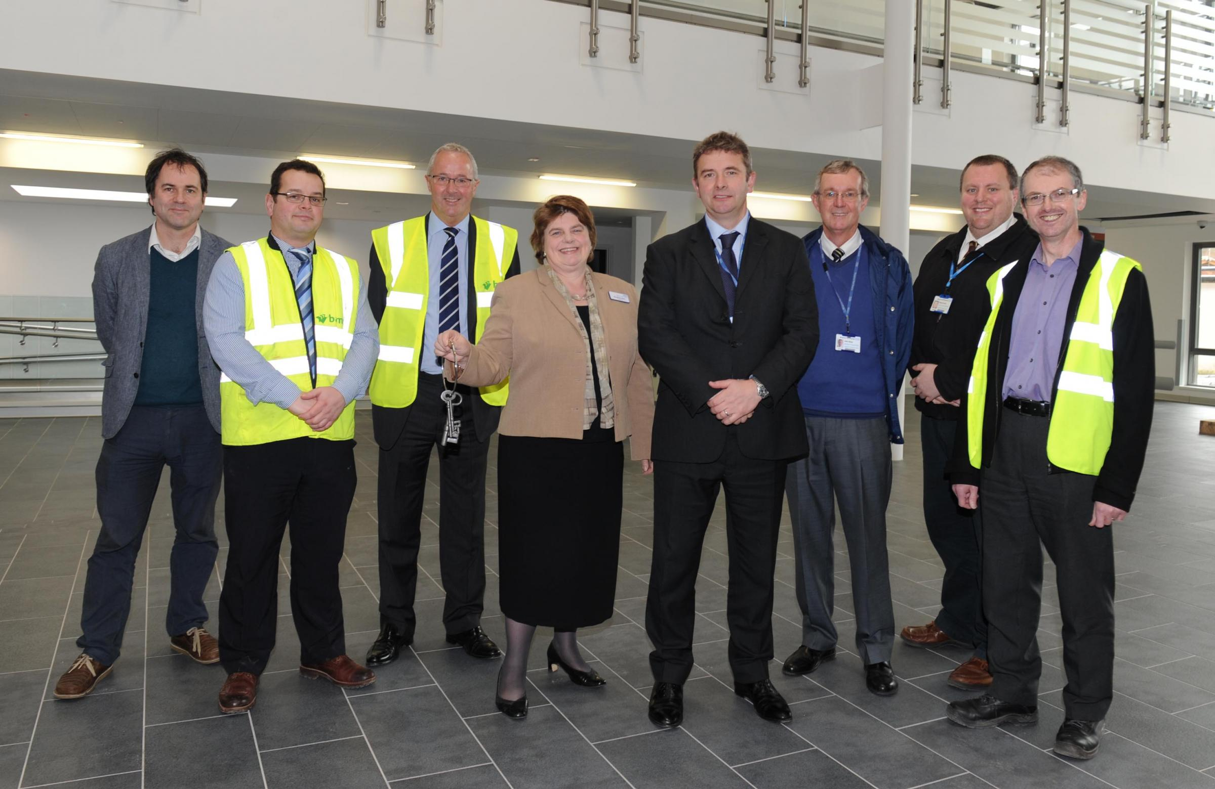 £34m Jubilee Building keys handed over to Taunton's Musgrove Park Hospital