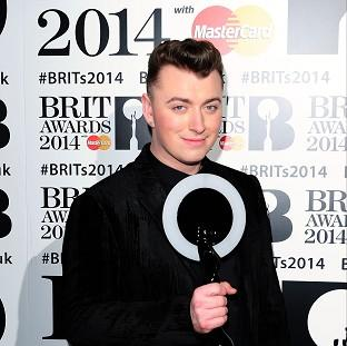 Sam Smith saw his single race to the top of the charts in the week that he picked up a Brit award