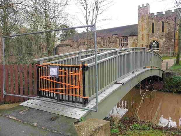 Somerset County Gazette: The bridge is deemed unsafe.