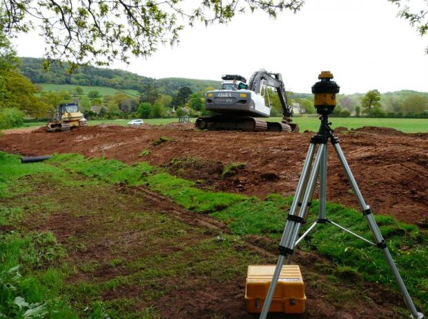 AN EARTH bank construction at Holnicote which has helped to prevent flash flooding in Allerford and Bossington. PHOTO: National Trust.