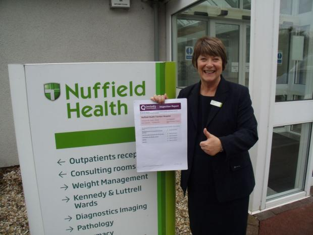 Matron Joy Dyer with the CQC report.