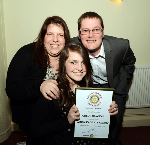 Somerset County Gazette: CHLOE Dawson with Tracy and Mike Dawson.
