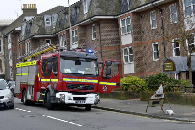 Smoke inhalation victim taken to hospital after Minehead fire