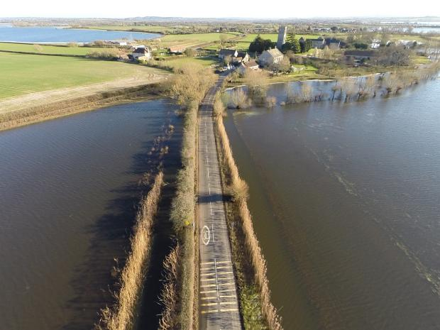 The road into Muchelney is now clear of flood water. Photo: Jeremy Pidgeon/controlthisview.co.uk