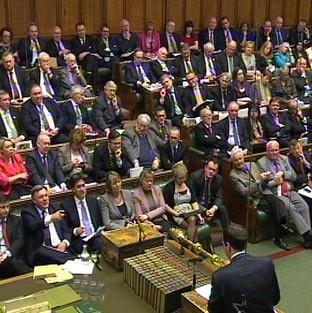 Chancellor George Osborne delivers his Budget statement to the Commons