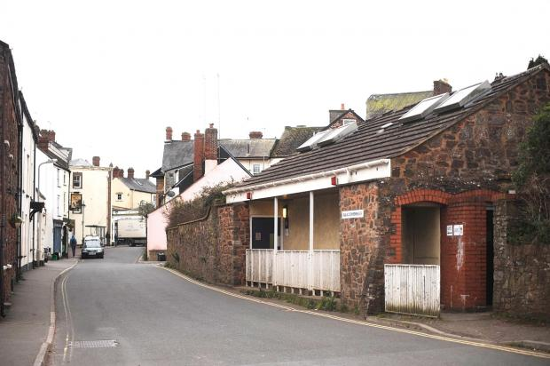 Somerset County Gazette: The public toilets in Wiveliscombe.