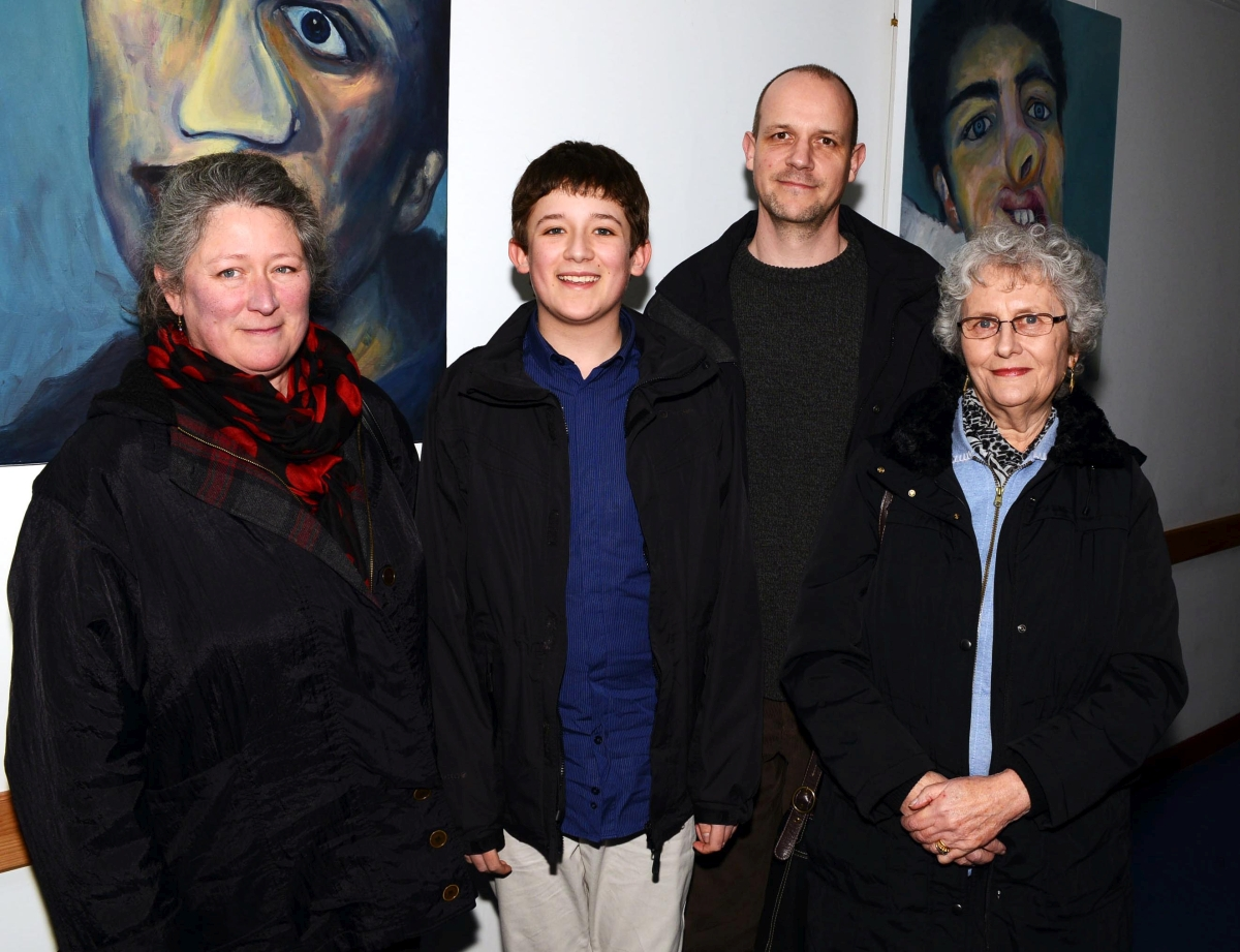 JOSEPH'S grandmother, Monique Turnbull, Nicole, Joseph, Greame Wigley, and Cllr David Fothergill.
