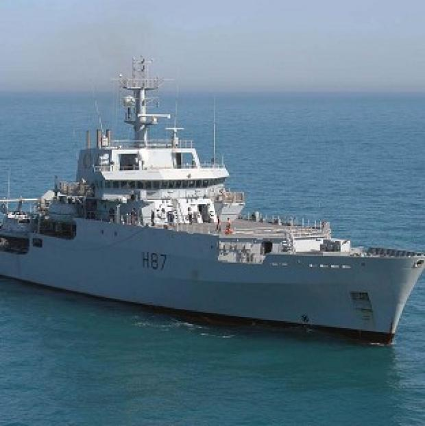 Somerset County Gazette: HMS Echo is to start search efforts to help find the black box of missing Malaysia Airlines flight MH370 (Royal Navy/PA)