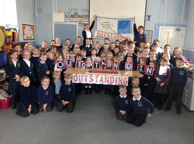 Curry Mallet Primary School celebrates being rated as 'outstanding' by Ofsted.