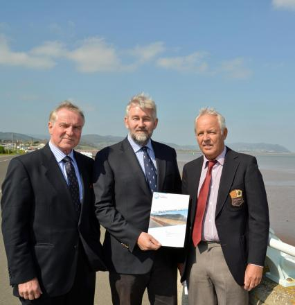 JOHN Clyde-Smith, Nick Higgins and Stephen Pickard, directors of LongBay Seapower. PHOTO: Somerset News Service.