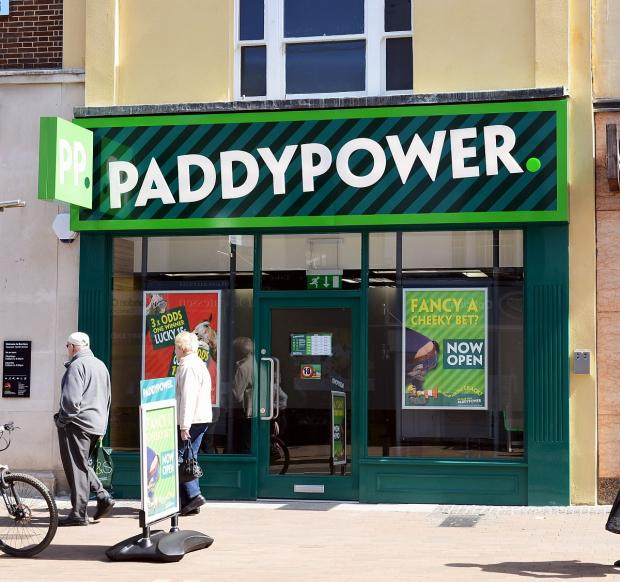The new Paddy Power bookmakers in North Street, Taunton.