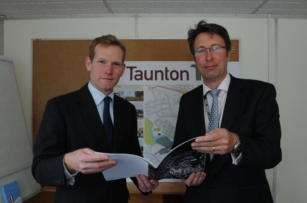 MP Jeremy Browne, with Brendan Cleere of Taunton Deane Council.