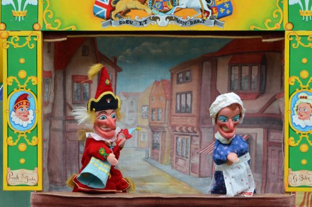 Punch and Judy among the guests at North Curry May Fayre