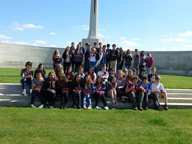 Students from Kingsmead School on their visit to Belgium.