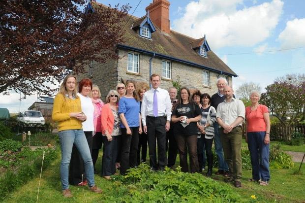 Taunton Deane MP Jeremy Browne met tenants and members of the Forced Out action group.