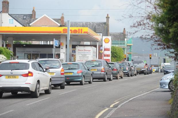 Somerset County Gazette: Traffic is regularly queued back on Longforth Road but it is hoped scenes like these will become a thing of the past.