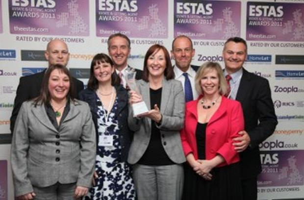 Webbers staff at last year's awards ceremony.