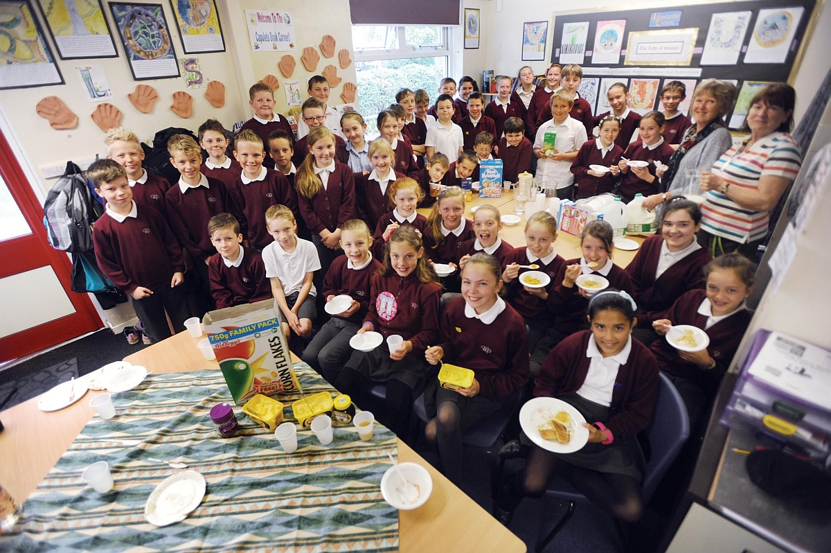 Breakfast club goes down a treat at Wellesley Park Primary School