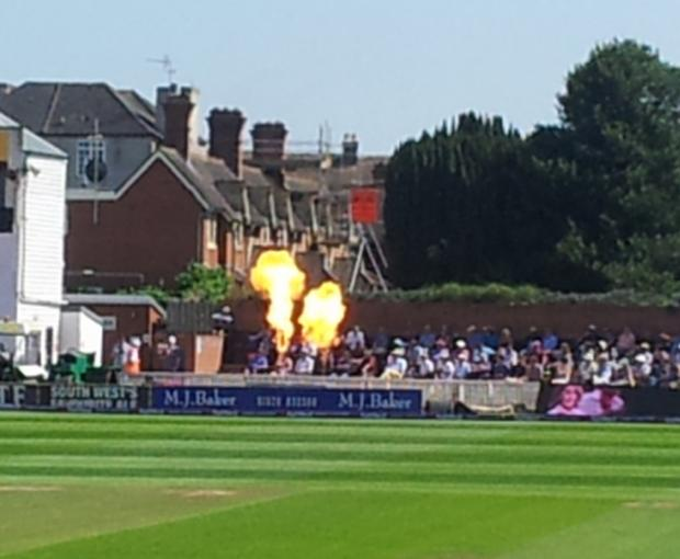 Somerset County Gazette: Fours, sixes and wickets were rewarded with pyrotechnic effects