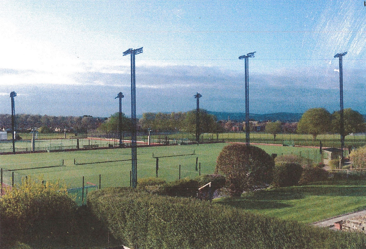 A mock-up of how the floodlights could look, provided by one of the objectors to the scheme.