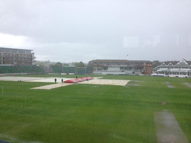 CRICKET: Somerset made to wait by downpour
