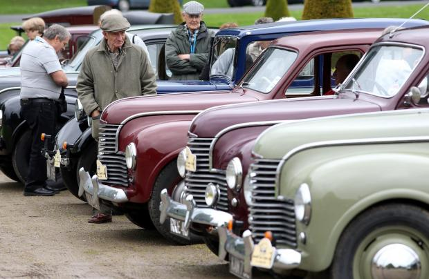 Classic car event at centenary Wiveliscombe Flower Show