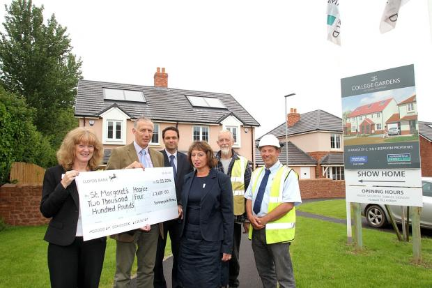 Houses mean money for St Magaret's Hospice after developer's donation pledge