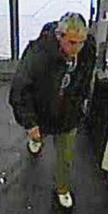 CCTV picture of man police wish to interview following theft at Poundstretcher Taunton