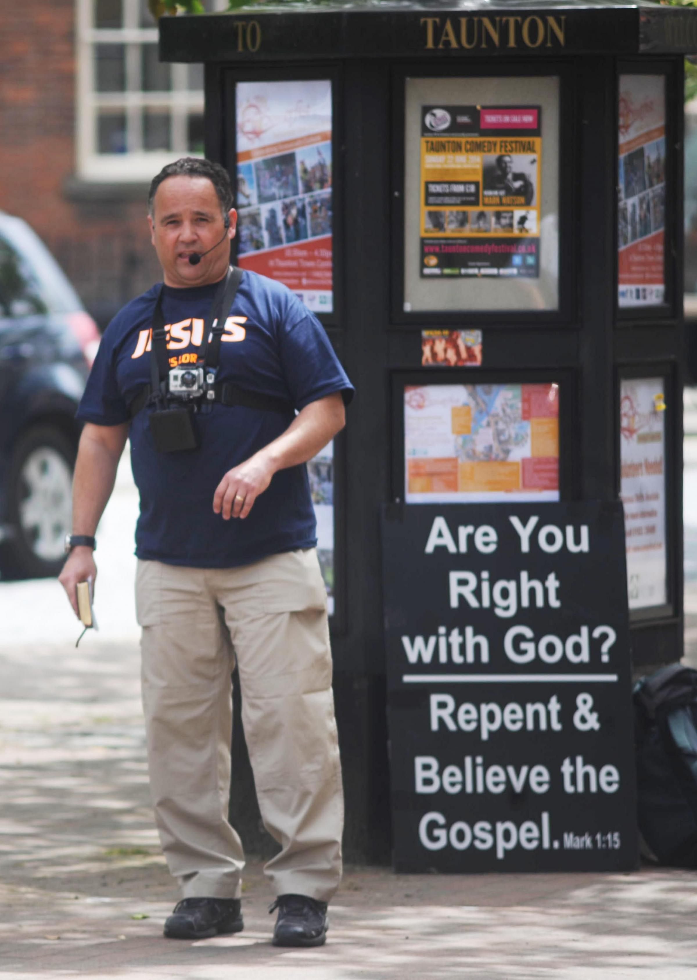 Police advise people to video street preacher 'if he make offensive remarks'