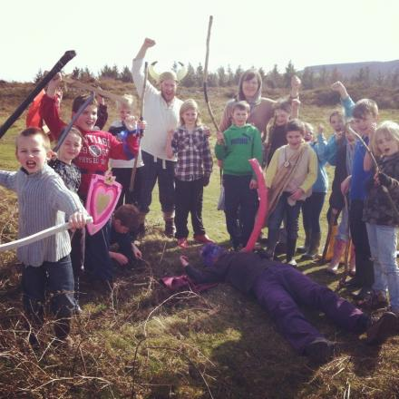 PUPILS stand victorious in battle after beating the native British patrollers.