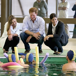 Prince Harry meets patients in the Rede Sarah Hospital for Nerological Rehabilitation injurie