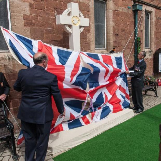 Somerset County Gazette: THE unveiling of Watchet's war memorial. Photo: PG and JM Photography.