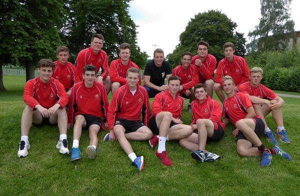 Jos Buttler with King's College cricketers on 'Buttler Ramp'. Photo: Alain Lockyer.