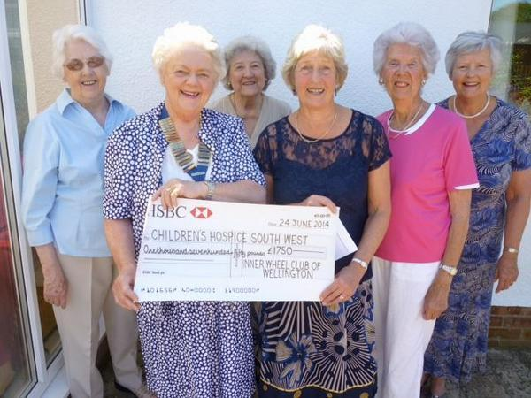 Wellington Inner Wheel Club in generous donations