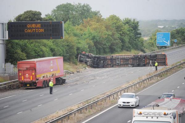 M5 southbound between Taunton and Bridgwater reopens after