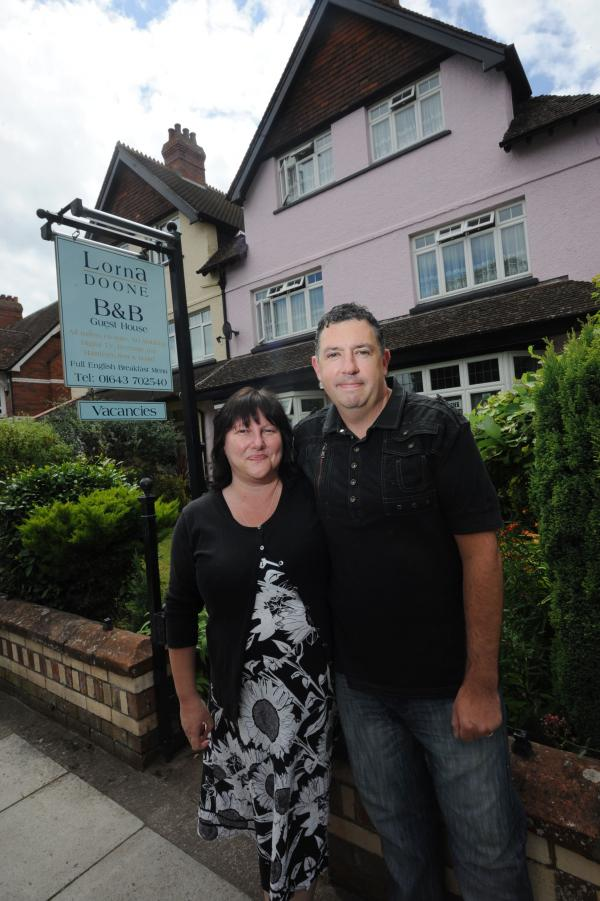 OWNERS Sue and Warren Eglese outside Lorna Doone Guest House. PHOTO: Ash Magill.