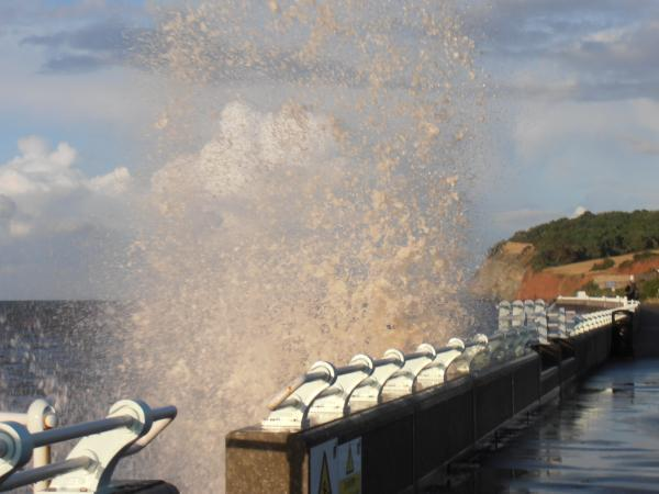 READER Dianne Turner sent in this image of dramatic waves at Blue Anchor yesterday (August 10).