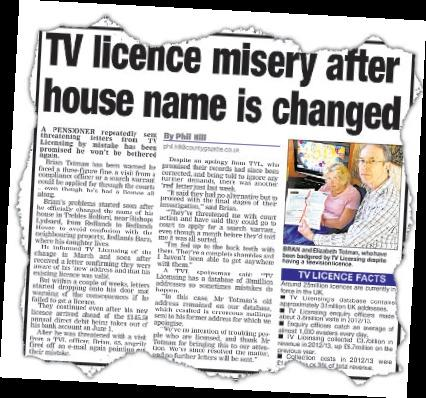 Repeat misery for couple in TV licence gaffe