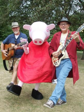 Peppa Pig appearing at Party in the Park, Blenheim Gardens