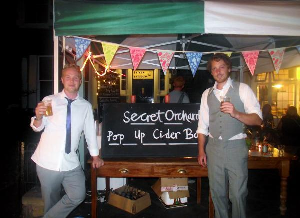 TODD Studley and Joe Heley from the Secret Orchard.