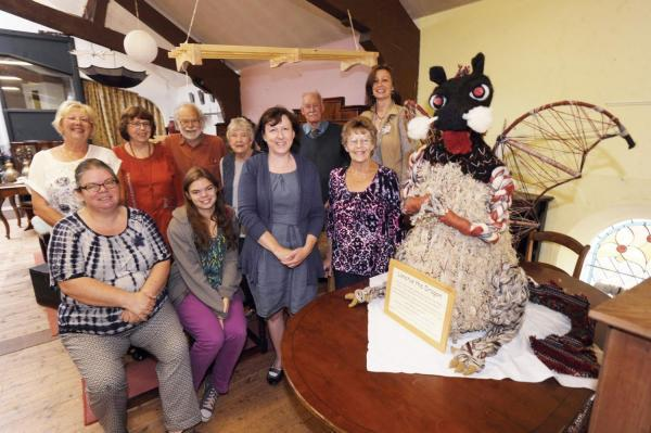 IN the picture, back, Pat Rogers, Sue Poole, Pat and Tony Sumner, Richard Fox, and Jane Osborne; front, Ruth and Josanna Fielder, Louise Winborn, and Janet Reid — some of whom were responsible for this Dragon and some made their own.