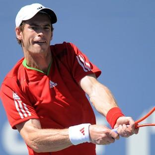 Andy Murray, pictured, was not troubled by Matthias Bachinger in
