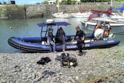 DIVERS about to head off and explore marine life in Porlock Weir for the first time in 30 years. PHOTO: Dom Flint.