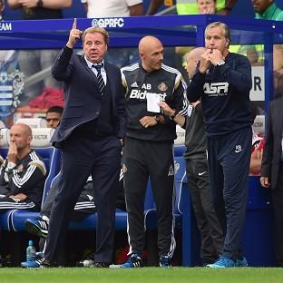 Harry Redknapp, left, saw his side beat Sunderland