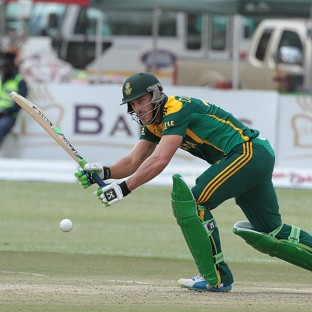 Faf du Plessis hit a fine century for South Africa (AP)