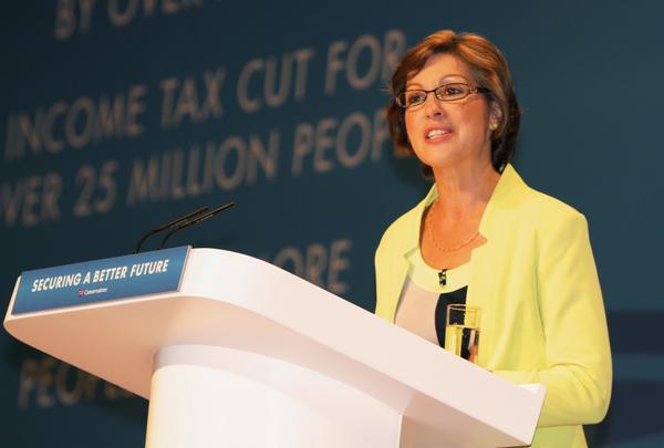 Rebecca Pow speaks at the Conservative Party conference