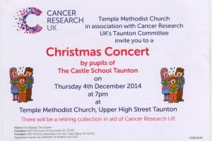 The Castle School Christmas concert at Temple Methodist Church, Taunton, December 4